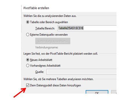 Excel Pivot Einstellungen / Optionen