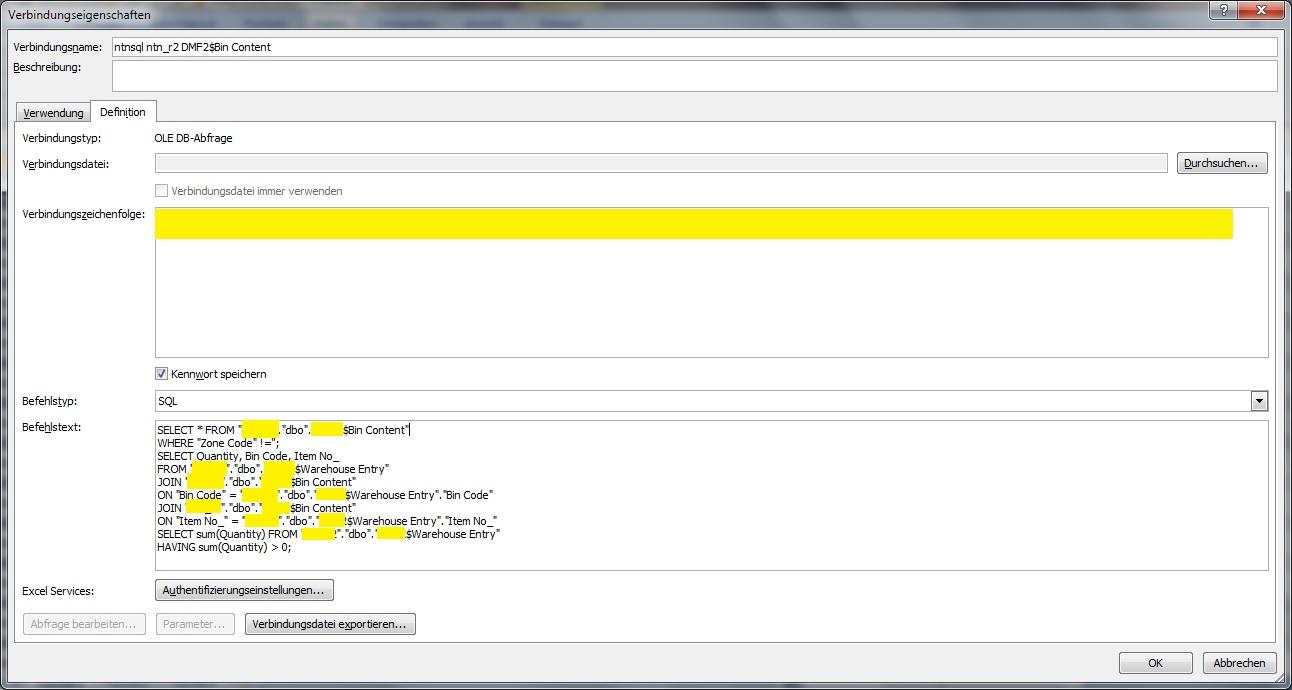 SQL Abfrage Excel über 2 Tabellen