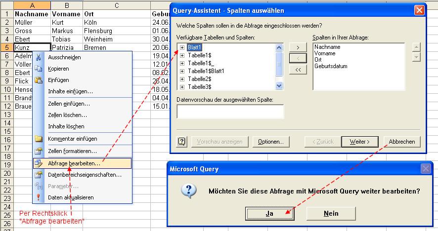 SQL Abfrage in Tabellenblatt speichern? | Herbers Excel-Forum